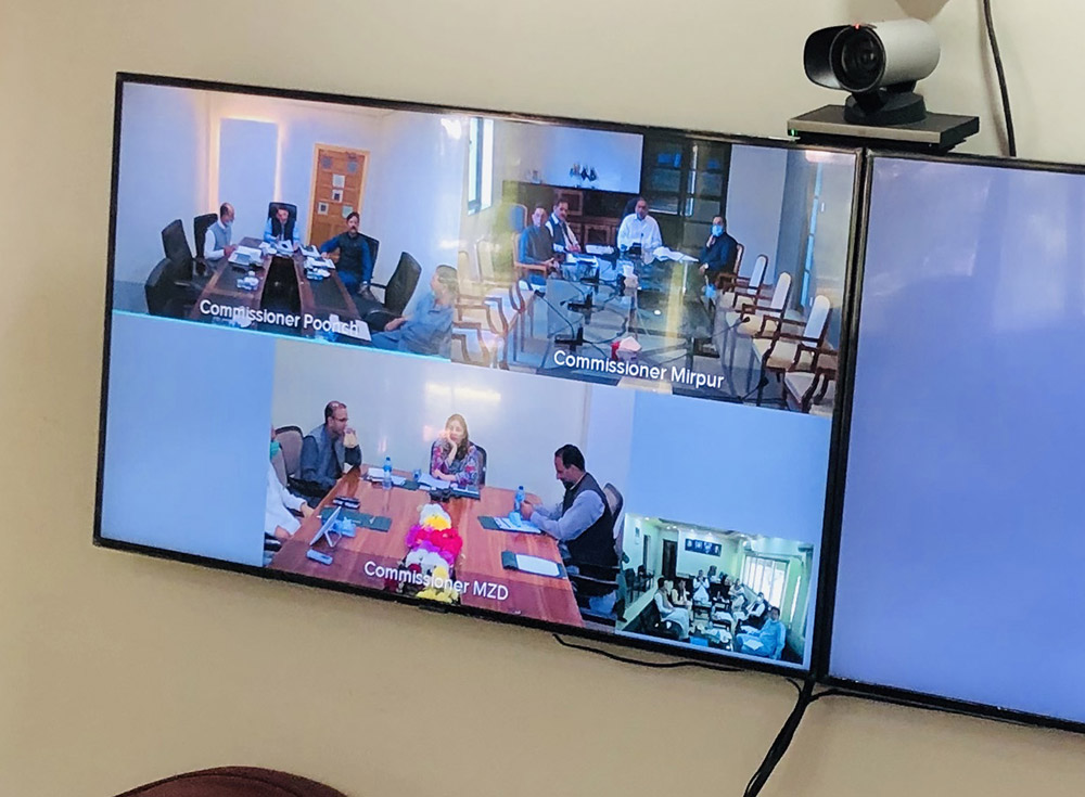 Video Conference of Commissioners of all Divisions powered by ITB.