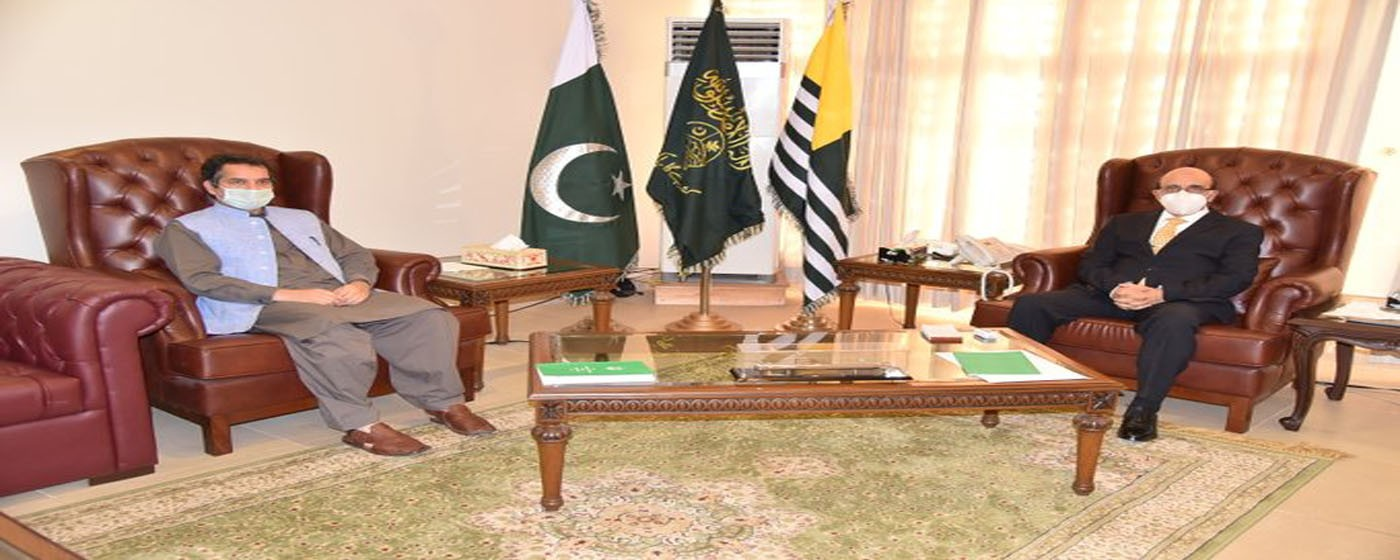 DG IT Dr. Khalid Rafique called on President AJ&K Sardar Masood Khan.